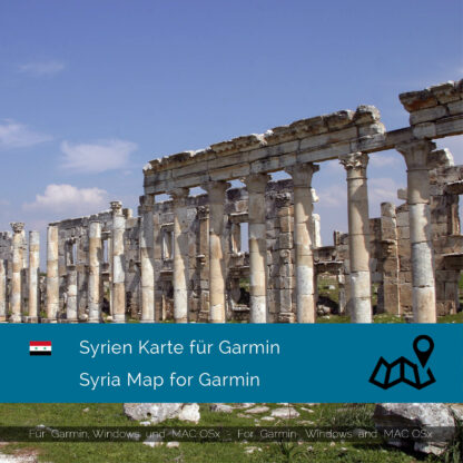 Syria - Download GPS Map for Garmin PC and Mac
