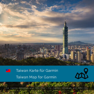 Taiwan - Download GPS Map for Garmin PC & MAC