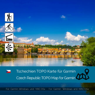 Czech Republic TOPO Garmin map Download