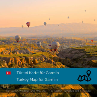 Turkey - Download GPS Map for Garmin PC & MAC
