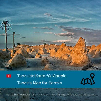 Tunesia - Download GPS Map for Garmin PC & MAC