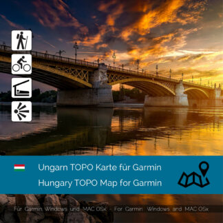 Hungary TOPO Garmin map Download