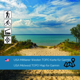 USA Midwest - Download GPS Map for Garmin PC & MAC
