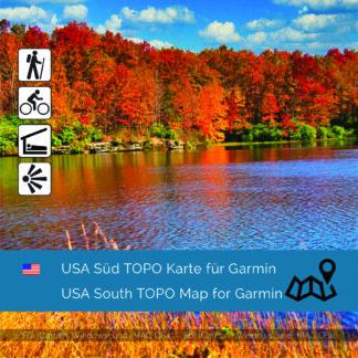 USA South - Download GPS Map for Garmin PC & MAC