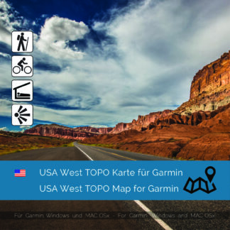 USA West - Download GPS Map for Garmin PC & MAC
