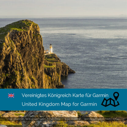 United Kingdom - Download GPS Map for Garmin PC and Mac